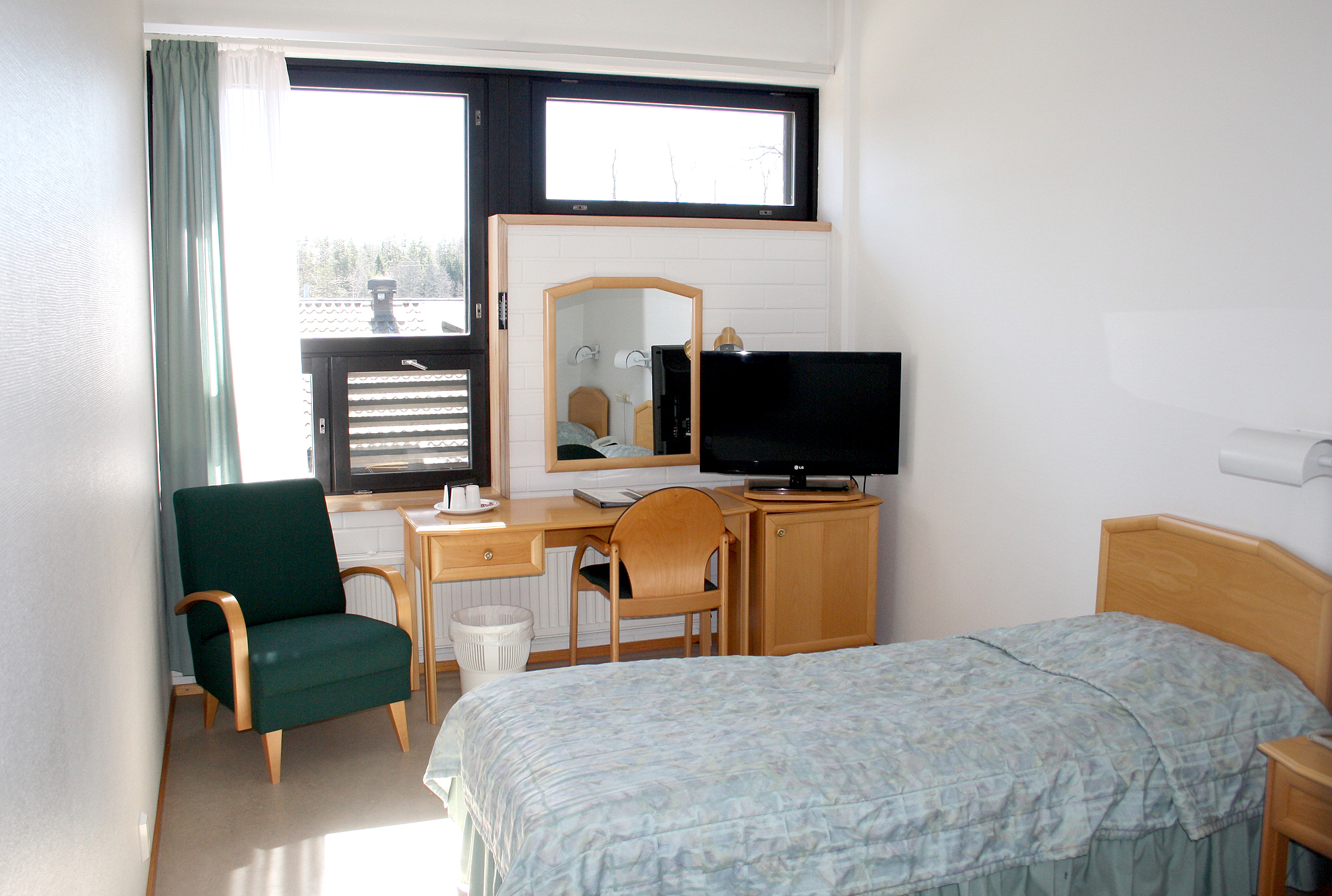 Picture of twin room in D-building